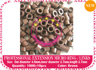 1000 PreBond Human Hair Extension Micro Ring Link-Brown