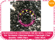 1000 PreBond Human Hair Extension Micro Ring Link-Black