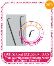 2pc Lace Ventilating Needle - Full Lace Wig DIY tools C
