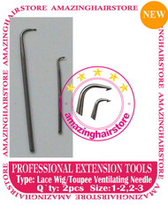2pc Lace Ventilating Needle - Full Lace Wig DIY tools B