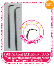 2pc Lace Ventilating Needle - Full Lace Wig DIY tools A
