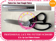 5mm Serrated Pattern Lace Scissors to Making Front Lace Wigs