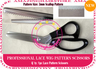 3mm Scallop Pattern Lace Scissors to Making Front Lace Wigs