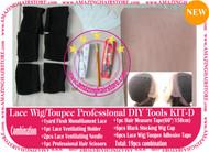 Hair Wigs Lace/Mono+Ventilating Needle 19pc DIY D toolset