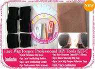 Hair Wigs Lace/Mono+Ventilating Needle 19pc DIY C toolset
