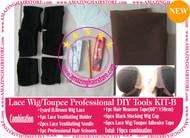 Hair Wigs Lace/Mono+Ventilating Needle 19pc DIY B toolset