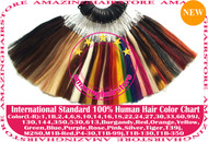 100% Human Hair Color Chart Ring