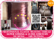 3X10m Strong Ultra Stretchy Elastic Weaving Thread for Brazilian Knot Extensions Jewelry Bracelet-L.Brown