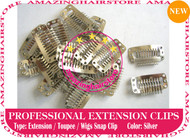 Snap Extension Clips for Clip Hair Extensions,Wigs,Toupee-Silver
