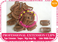 Snap Extension Clips for Clip Hair Extensions,Wigs,Toupee-M.Brown