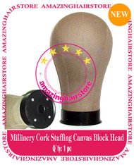 NEW Millinery Cork Canvas Block Head for Lace Wigs Making