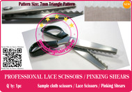 7mm Serrated Pattern Lace Scissors to Making Front Lace Wigs