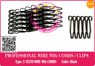 128 Pieces 5 TEETH SMALL SECURITY WIRE WIG COMBS / LACE FRONT HAIR WIG-HAIRPIECE-TOUPEE