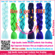 The Color No: A1~A40 of 100 Colors High Quality Braiding Hair 24 inch Jumbo Braids Ombre Synthetic Fiber Hair Extensions-FREE Shipping