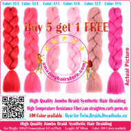 Colors No: A1~A40 of 100 Colors High Quality Braiding Hair 24 inch Jumbo Braids Ombre Synthetic Fiber Hair Extensions-FREE Shipping