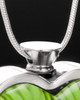 Stainless Steel Jade Meadows Heart Keepsake Jewelry
