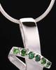 Sterling Silver Green Inspirational Memories Cremation Urn Pendant