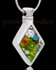 Silver Plated Natural Cremation Urn Pendant