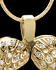 Gold Plated Winged Memories Heart Keepsake Jewelry