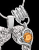 November Winged Memories' Sterling Silver Heart Cremation Pendant
