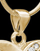 Gold Plated For All Time Hearts Cremation Urn Pendant
