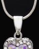 Sterling Silver Safekeeping Heart Cremation Urn Pendant