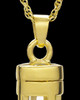 Gold Plated Captivating Cylinder Keepsake