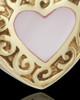 Gold Plated Blushing Heart Urn Keepsake