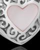 Sterling Silver Blushing Heart Urn Keepsake