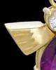 Gold Plated Lavender Lovely Messenger Urn Keepsake