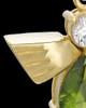 Gold Plated Green Lovely Messenger Urn Keepsake