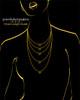 Black Plated Evening Heart Keepsake Jewelry