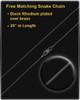 Black Plated Classy Cylinder Keepsake Jewelry