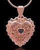 Rose Gold Plated Garland Heart Keepsake Jewelry