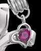Sterling Silver July Fluid Cross Keepsake Jewelry