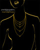 Black Plated Noble Heart Keepsake Jewelry