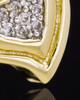 Gold Plated Heart Trio Keepsake Jewelry
