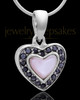 Sterling Silver Sunset Heart Keepsake Jewelry