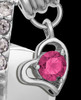 Sterling Silver October Weeping Heart Keepsake Jewelry