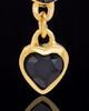 Gold Plated Trickling Heart Keepsake Jewelry