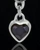 Silver Plated Trickling Heart Keepsake Jewelry