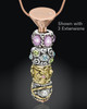 Rose Gold Stainless Millenium Cremation Pendant with Graceful Charm