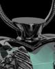Black Plated Stainless Steel Turquoise Fond Emotions Jewelry Keepsake