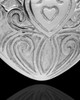Memorial Pendant Sterling Silver Love Filigree Heart