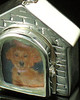 Pet Urn Jewelry 14K White Gold Dog House Keepsake