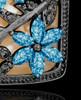 Black and Blue Spring Garden Memorial Charm