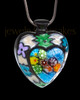 Black Plated Pleasant Heart Cremation Urn Pendant