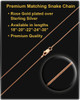 Cremains Pendant Courageous Rose Gold Plated Cylinder