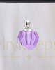 Violet Sheer Teardrop Glass Reflection Pendant