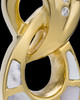 14K Gold Plated Infinity Urn - Swarkoski Stones and Mother of Pearl
